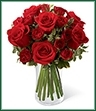 The Red Romance Rose Bouquet will dazzle your special recipient with its expression of love and beauty this coming Valentine's Day. Rich red roses and spray roses are gorgeously arranged in a clear glass vase, accented with a lovely mix of greens, to create a bouquet bursting with romantic intentions.